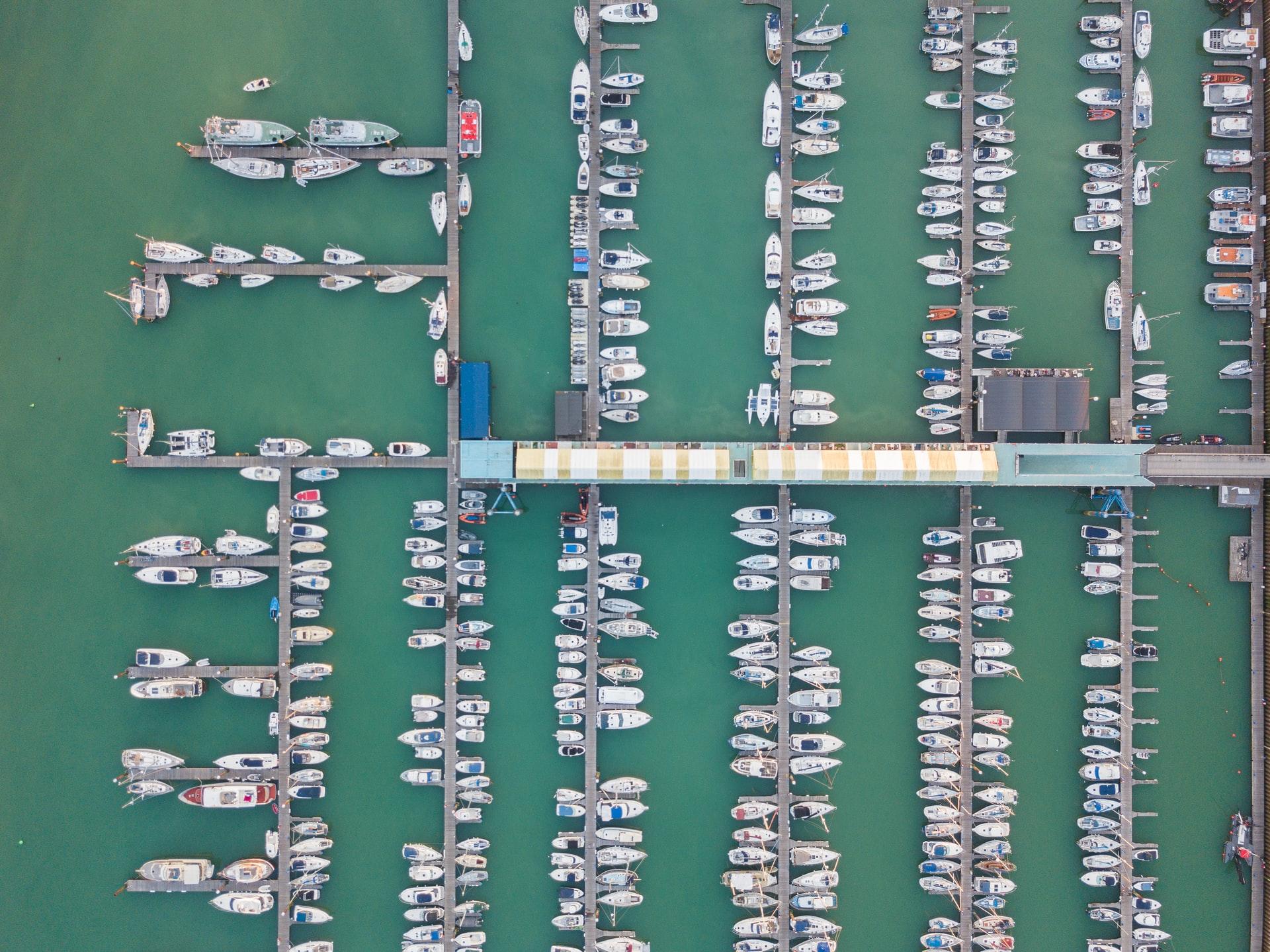 image of boat marina